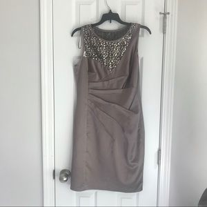 Donna Ricco New York Taupe Formal Sequin Dress 8